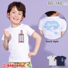4/15NEW ディズニー キャラクター ポケット Tシャツ 2485K ベビードール 子供服 ベビーサイズ キッズ 男の子 女の子 /DISNEY
