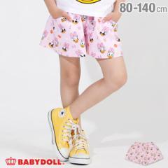 5/1NEW ディズニー キャラクター 総柄 ショートパンツ 2522K ベビードール 子供服 ベビーサイズ キッズ 女の子