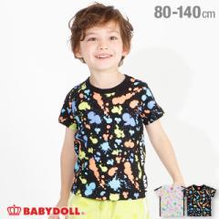 6/16まで 60%OFF SALE アウトレット カラフル ペイント Tシャツ 4030K ベビードール 子供服 ベビーサイズ キッズ 男の子 女の子