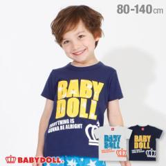 6/16まで さらに20%OFF 30%OFF SALE アウトレット パイル ワッペン Tシャツ 4032K ボトム別売 ベビードール 子供服 ベビーサイズ キッ