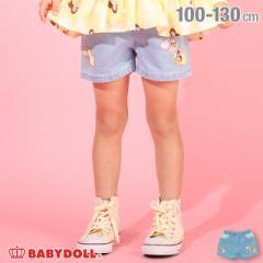 5/21〜 50%OFF SALE ディズニー プリンセス デニム ショートパンツ  4950K (トップス別売) ベビードール 子供服 ベビーサイズ キッズ 女