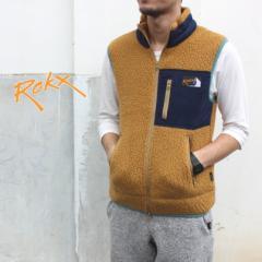 ロックス ROKX アウター バーバー ベスト BERBER VEST カスタモスブラウン RXMF194074