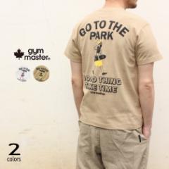 ジムマスター gym master Tシャツ GO TO THE PARK TEE G492692 01(ホワイト) 31(ベージュ)