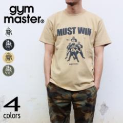 ジムマスター gym master Tシャツ マスト ウィン MUST WIN G680687 ホワイト(01) ブラック(05) ベージュ(31) オリーブ(46)