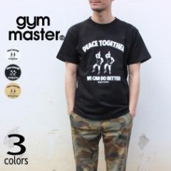 ジムマスター gym master Tシャツ ピース トゥギャザー PEACE TOGETHER G680688 ホワイト(01) ブラック(05) ベージュ(31)