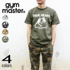 ジムマスター gym master Tシャツ トゥルー ハート TRUE HEART G692689 ホワイト(01) ブラック(05) ベージュ(31) オリーブ(46)