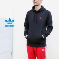 アディダス adidas ウェア エッセンシャル フーディ ESSENTIAL HOODIE ブラック/スカーレット GD2570