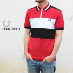 フレッドペリー FRED PERRY ウェア チェスト パネル ポロシャツ CHEST PANEL POLO SHIRT M8665 401(ウインターレッド)