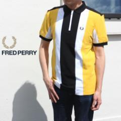 フレッドペリー FRED PERRY ウェア ボールド ストライプ ポロシャツ BOLD STRIPE POLO SHIRT M8668 I68(サングロー)