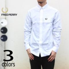 フレッドペリー FRED PERRY ウェア オックスフォード シャツ OXFORD SHIRT SM1920 ホワイト(100) ブラック(102) ネイビー(608)