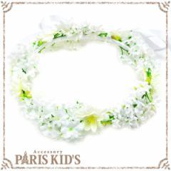 【送料無料】 花かんむり 花冠  造花 r2018_ss ホワイト 白い 結婚式 ヘアアクセサリー ヘッドアクセサリー
