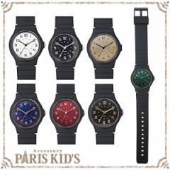 【 メール便 送料無料 】 腕時計 レディース ラバー カラー ブラック 黒 黒い シンプル スポーティー クール グリーン ブルー