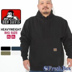 秋新作 [ビッグサイズ] ベンデイビス パーカー プルオーバー 裏起毛 ヘビーウェイト メンズ 大きいサイズ USAモデル ブランド BEN DAVIS