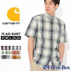カーハート シャツ 半袖 ボタンダウン ポケット チェック柄 薄手 メンズ 104174 USAモデル ブランド Carhartt チェックシャツ アメカジ