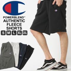 チャンピオン スウェット ハーフパンツ 膝上 メンズ 大きいサイズ USAモデル|ブランド ショートパンツ ロゴ アメカジ|Champion
