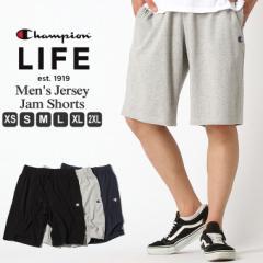 チャンピオン ライフ スウェット ハーフパンツ 膝上 メンズ 大きいサイズ USAモデル|ブランド ショートパンツ ロゴ アメカジ|Champion