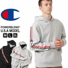 チャンピオン パーカー プルオーバー メンズ 袖プリント 大きいサイズ USAモデル|ブランド Champion