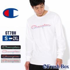 秋新作  チャンピオン Tシャツ 長袖 クルーネック メンズ 大きいサイズ GT78H Y08126|ブランド ロンT アメカジ USAモデル