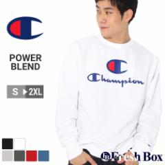 Champion チャンピオン トレーナー 裏起毛 メンズ ブランド スウェット 大きいサイズ 9オンス [Powerblend Fleece Crew Big C & Script L