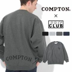 秋新作 【送料無料】 トレーナー メンズ|プロクラブ コンプトン コラボ comxpc0001|PRO CLUB COMPTON BASIC LOGO
