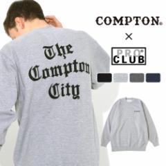 【送料無料】 トレーナー メンズ プロクラブ コンプトン コラボ comxpc0003 PRO CLUB COMPTON THE TIMES [春新作]