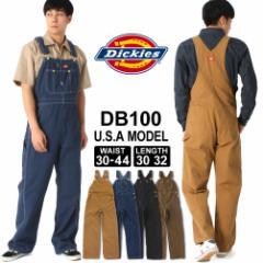ディッキーズ オーバーオール ウォッシュデニム ダック DB100 メンズ 股下 30インチ 32インチ ウエスト 30〜44インチ 大きいサイズ USAモ