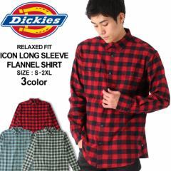 ディッキーズ シャツ 長袖 チェック柄 メンズ ネルシャツ|大きいサイズ USAモデル Dickies|長袖シャツ フランネルシャツ XL XXL LL 2L