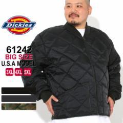 秋新作 [ビッグサイズ] ディッキーズ キルティングジャケット 61242 メンズ ナイロンジャケット 大きいサイズ USAモデル Dickies ワー