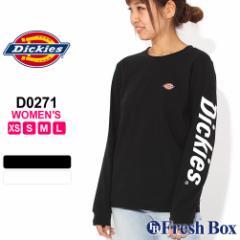 [レディース] ディッキーズ Tシャツ 長袖 クルーネック 大きいサイズ LS101 D0271 USAモデル|ブランド Dickies Girl|ロンT 長袖Tシャツ