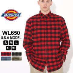 秋新作 ディッキーズ シャツ 長袖 チェック柄 WL650 メンズ ネルシャツ|大きいサイズ USAモデル Dickies (clearance)