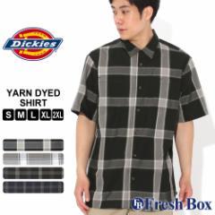 ディッキーズ シャツ 半袖 オープンカラー ポケット チェック柄 メンズ 大きいサイズ WS550 USAモデル ブランド Dickies チェックシャツ