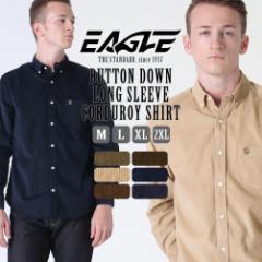 シャツ 長袖 メンズ ボタンダウン コーデュロイ 大きいサイズ 日本規格|EAGLE THE STANDARD イーグル