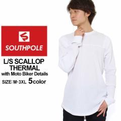 サウスポール ロンT Uネック サーマル メンズ|大きいサイズ USAモデル ブランド SOUTH POLE|長袖Tシャツ バイカーファッション ストリ