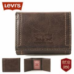 リーバイス 財布 三つ折り 小銭入れなし パスケース 本革 31LV110028 USAモデル ブランド Levis ミニ財布 コンパクト