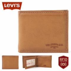 リーバイス 財布 二つ折り 小銭入れなし 中ベラ付き パスケース 本革 31LV130028 USAモデル|ブランド Levis Levis