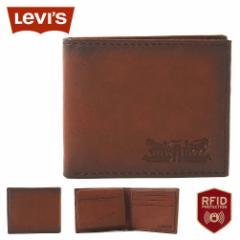 リーバイス 財布 二つ折り 小銭入れなし 中ベラ付き パスケース 本革 31LV220010 USAモデル|ブランド Levis Levis