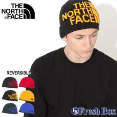 秋新作 ノースフェイス ニット帽 TNF ロゴ リバーシブル メンズ レディース NF00AKND USAモデル|ブランド THE NORTH FACE|帽子 ビーニ