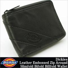 ディッキーズ 財布 二つ折り 小銭入れなし ラウンドファスナー メンズ 本革 レザー 31DI1308 USAモデル Dickies 二つ折り財布 big_ac 春