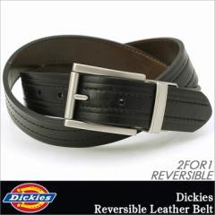 ディッキーズ ベルト リバーシブル メンズ 本革 レザー 11DI02M9|USAモデル Dickies|カジュアル
