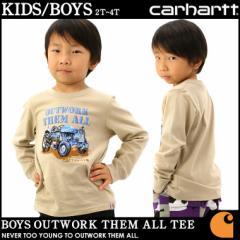 [キッズ] カーハート Tシャツ 長袖 USAモデル ボーイズ│ブランド Carhartt|ロンT 長袖Tシャツ ロゴ プリント|子供 子供服 男の子 女の