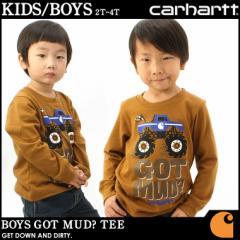 【子供服】 カーハート Carhartt ロンt プリント ロゴ 子供服 男の子 tシャツ 長袖 ロンt ロゴ アメカジ ブランド