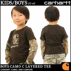 【子供服】 カーハート Carhartt ロンt レイヤード 子供服 男の子 長袖 tシャツ ロンt 重ね着 アメカジ ブランド