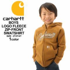 [キッズ] カーハート パーカー ジップアップ 裏起毛 ボーイズ CP8447 USAモデル ブランド Carhartt 子供 子供服 男の子 女の子 アメカジ