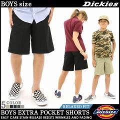 【BOYS/KIDS】 Dickies ディッキーズ 子供服 ハーフパンツ 男の子 女の子 ずぼん アメカジ ヒップホップ ボーイズ キッズ (42562)