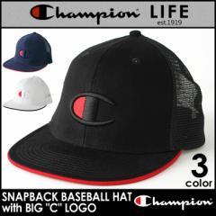 チャンピオン メッシュキャップ メンズ レディース 帽子 USAモデル|ブランド ビッグロゴ アメカジ スナップバック|Champion