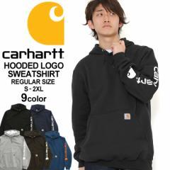 カーハート パーカー プルオーバー 袖ロゴ メンズ 大きいサイズ ブランド k288 USAモデル│ブランド Carhartt|スウェット アメカジ おし