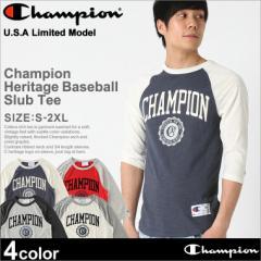 チャンピオン Tシャツ ラグラン 7分袖 メンズ 大きいサイズ USAモデル ブランド ロゴ アメカジ Champion 冬新作