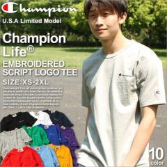 チャンピオン ライフ Tシャツ 半袖 厚手 メンズ 大きいサイズ USAモデル ブランド 半袖Tシャツ ロゴ アメカジ ヘビーウェイト Champion