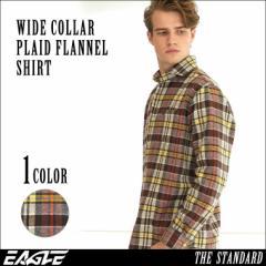 【送料無料】 ネルシャツ メンズ チェックシャツ 長袖 ワイドカラー 大きいサイズ メンズ EAGLE THE STANDARD [ネルシャツ メンズ 厚手