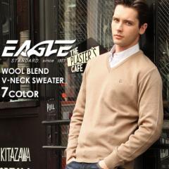 【送料無料】 EAGLE THE STANDARD イーグル セーター メンズ Vネック ニット 日本製 [日本規格] (eagle-30001) ニット セーター メンズ